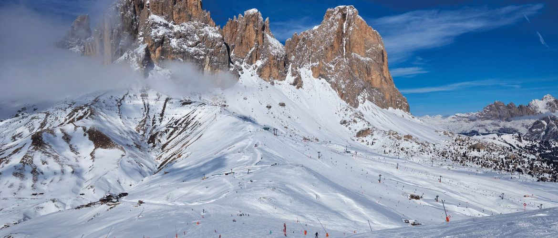 Skipiste Dolomiten Fassatal iStock649448648 web